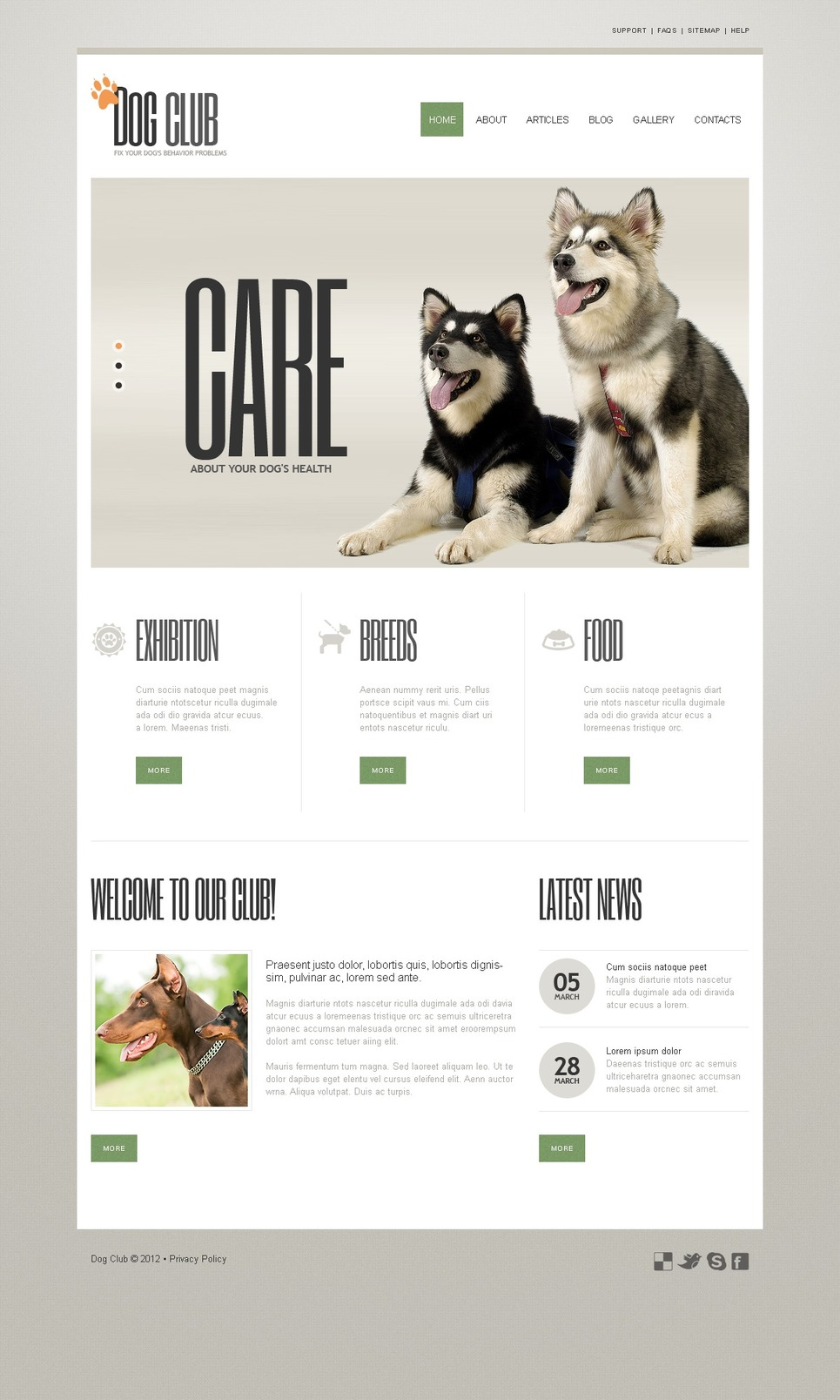 Dog Joomla Template New Screenshots BIG
