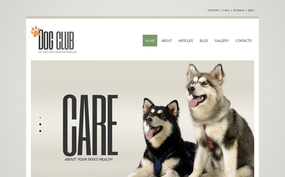 Dog Joomla Template New Screenshots BIG