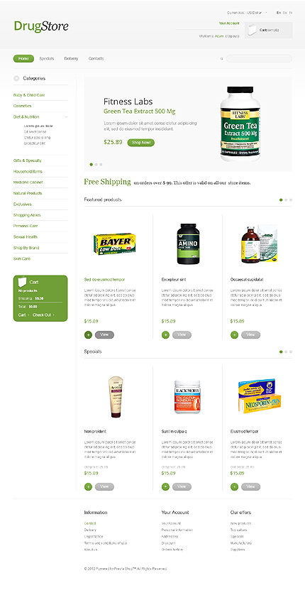 Drug store - Ideal Online Pharmacy Store PrestaShop Theme