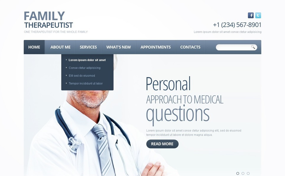 Psychologist Website Template New Screenshots BIG