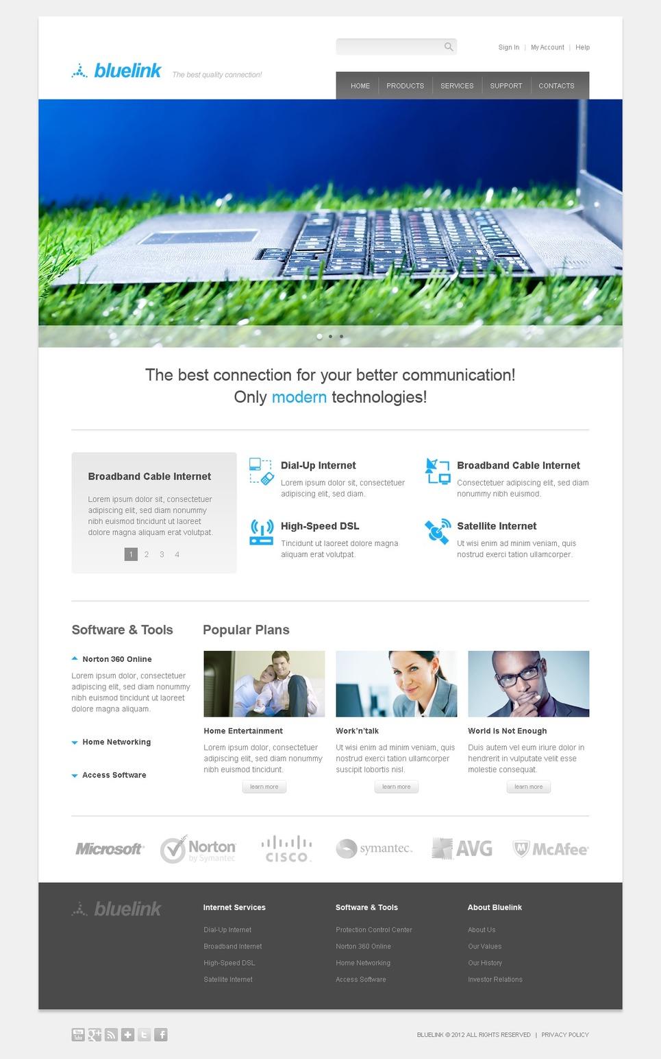Internet Website Template New Screenshots BIG