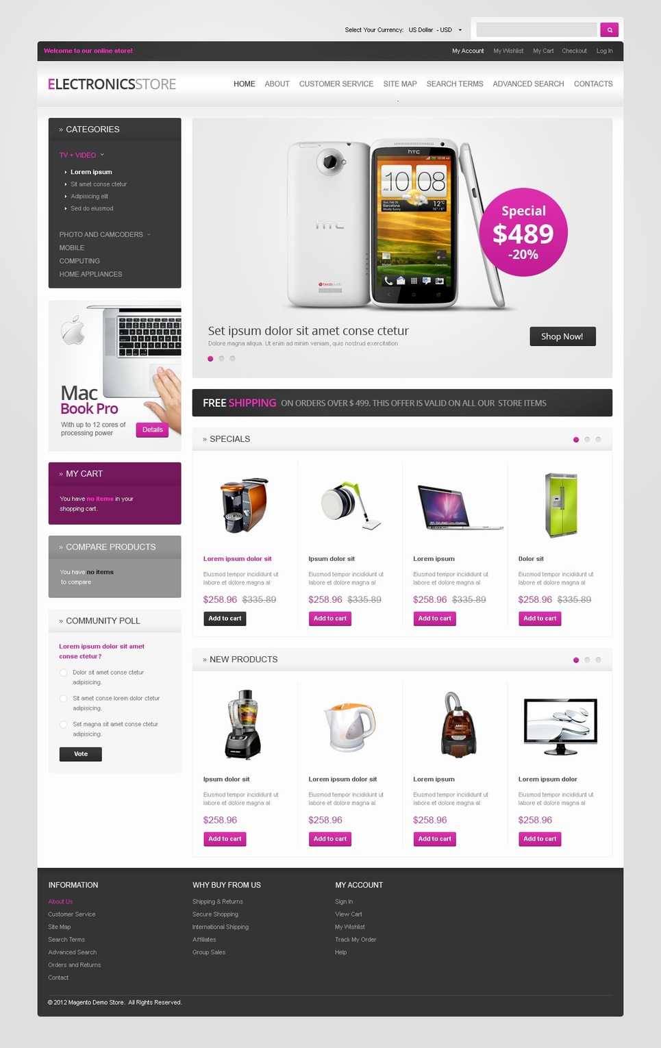 Ultimate Electronics for Life Magento Theme