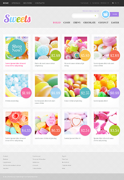 Sweets - Delicious Sweet Shop PrestaShop Theme