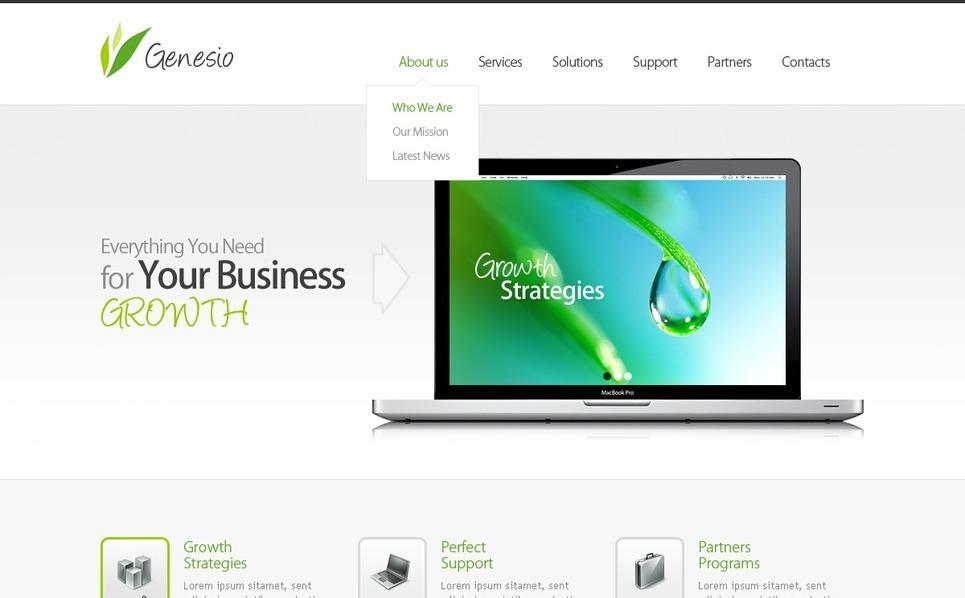 Management Company Responsive Website Template New Screenshots BIG