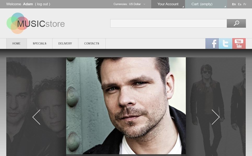 Music Store PrestaShop Theme New Screenshots BIG