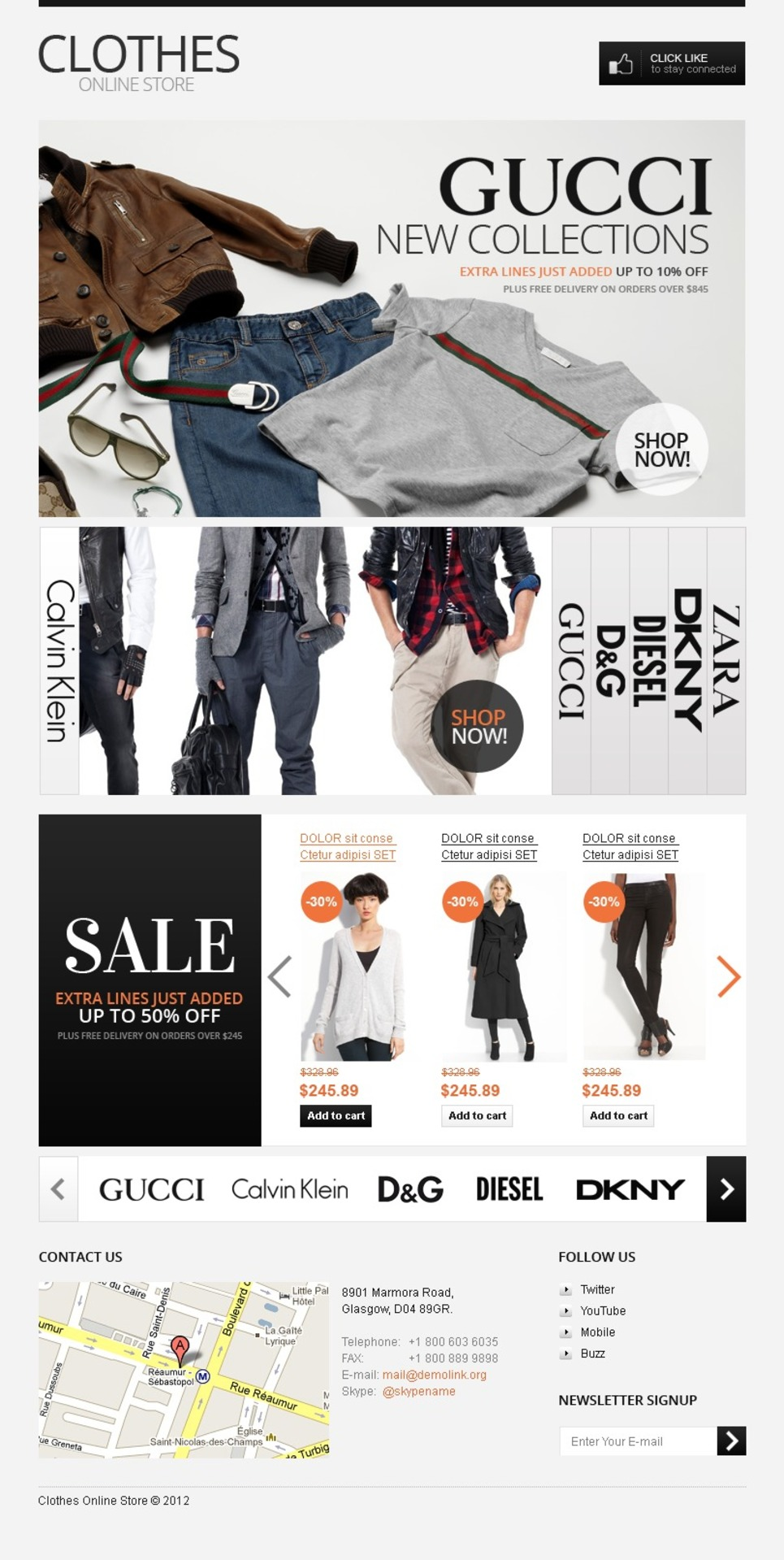 Cool Clothes Facebook Template New Screenshots BIG