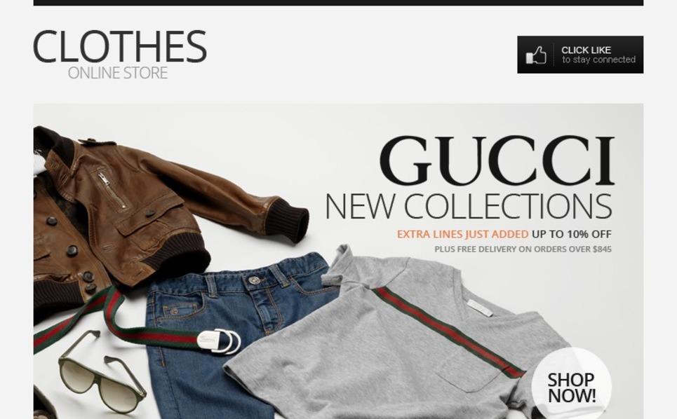 Cool Clothes Facebook Template New Screenshots BIG