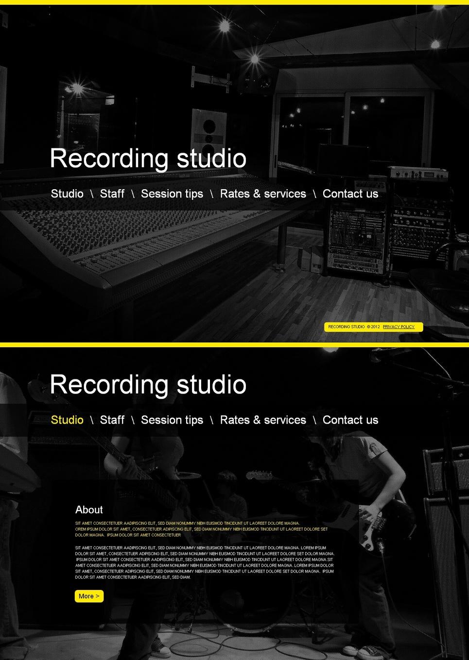 Dark Web Template for Audio Recording Studios - image