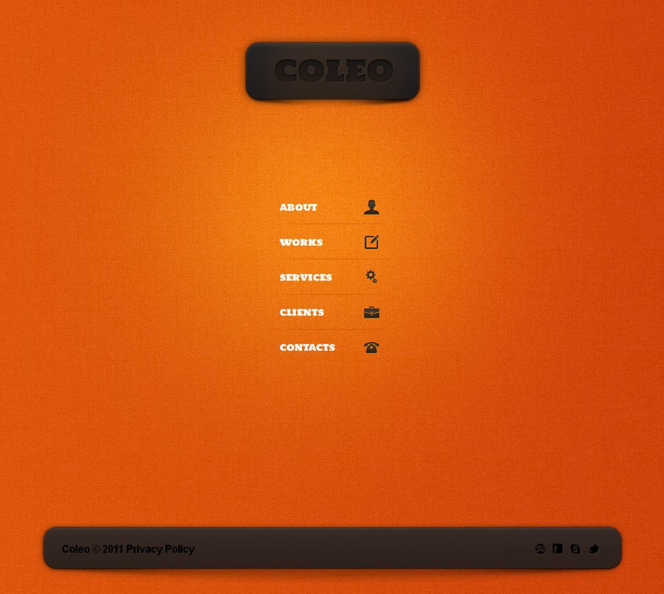 Orange Website Template for Design Studios - image