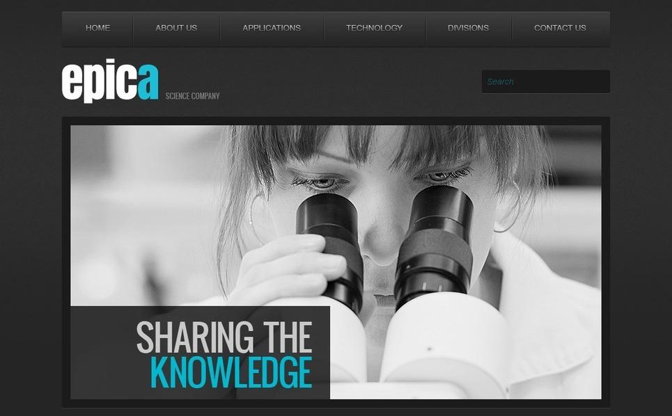 Science Lab Website Template New Screenshots BIG