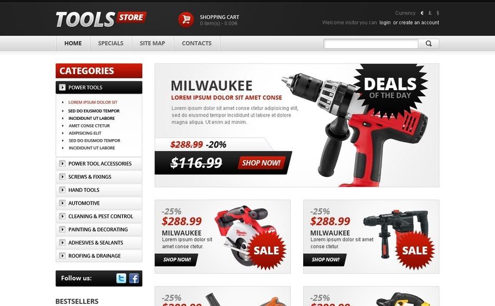 Professional Tools OpenCart Template New Screenshots BIG