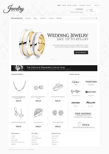 Jewelry store - Superb Jewellery Store PrestaShop Theme