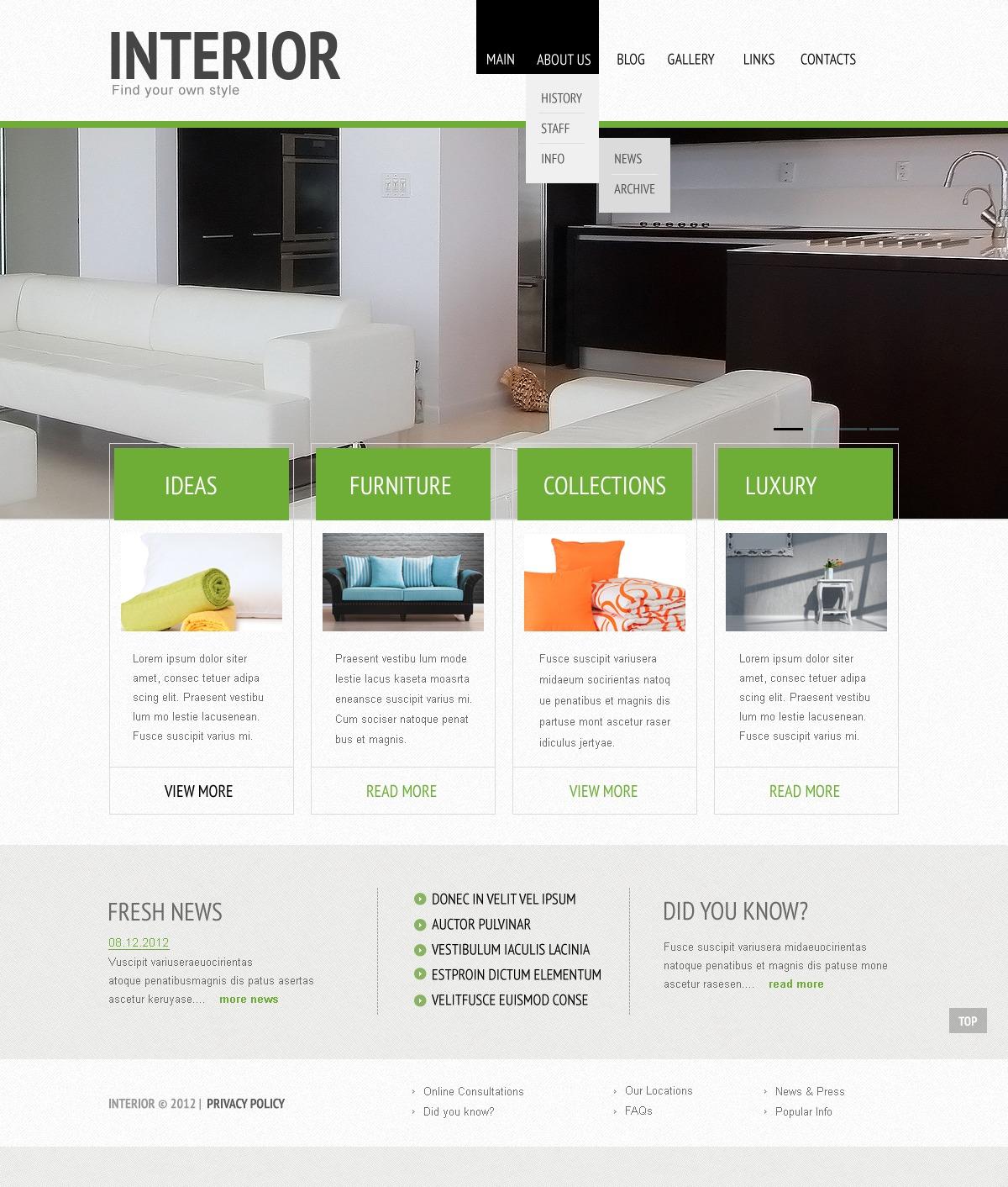 Покупка дизайнов сайта