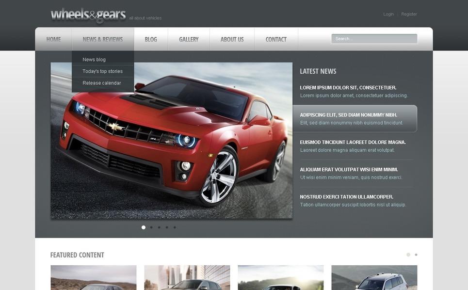 Wheels & Tires Drupal Template New Screenshots BIG