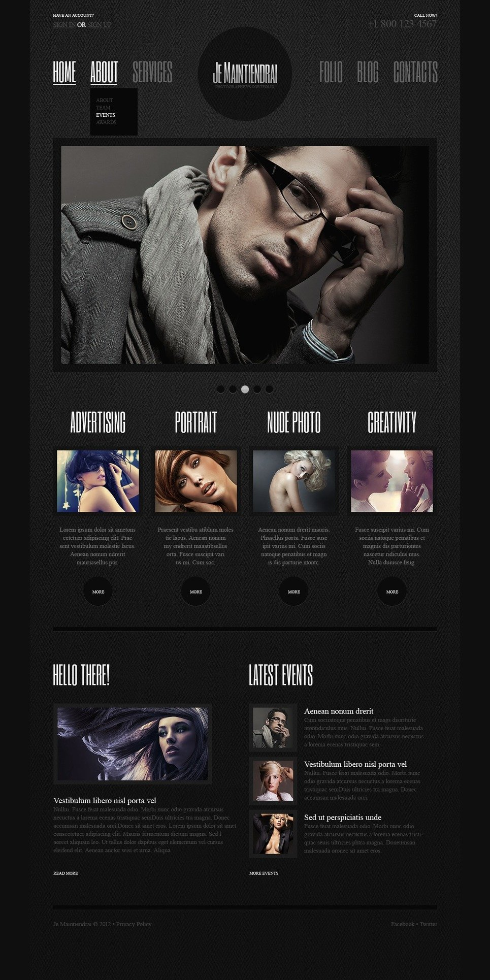Photographer Portfolio Joomla Template New Screenshots BIG