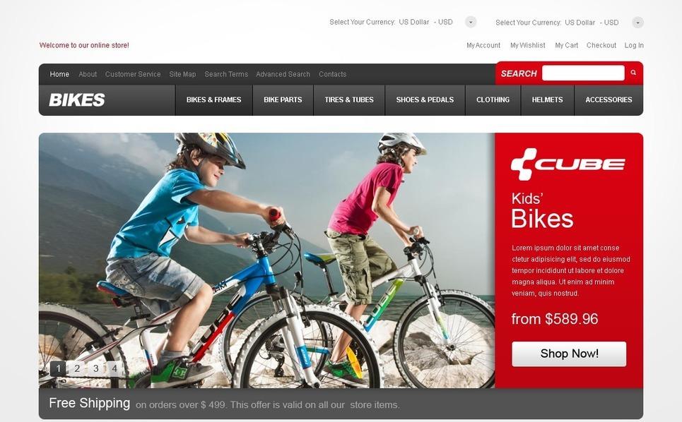 Sport Bikes Magento Theme New Screenshots BIG