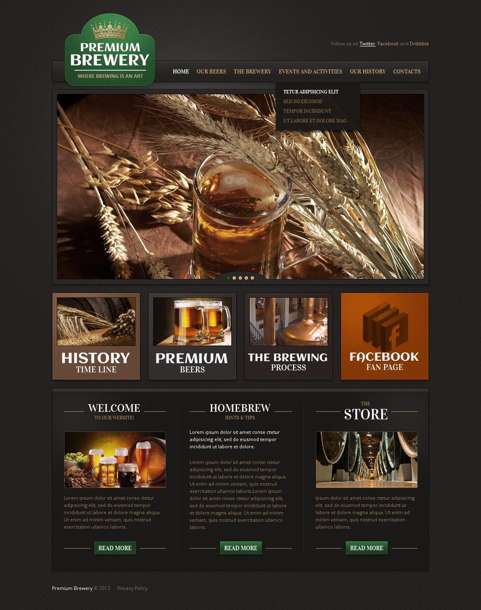 Brewery Website Template New Screenshots BIG