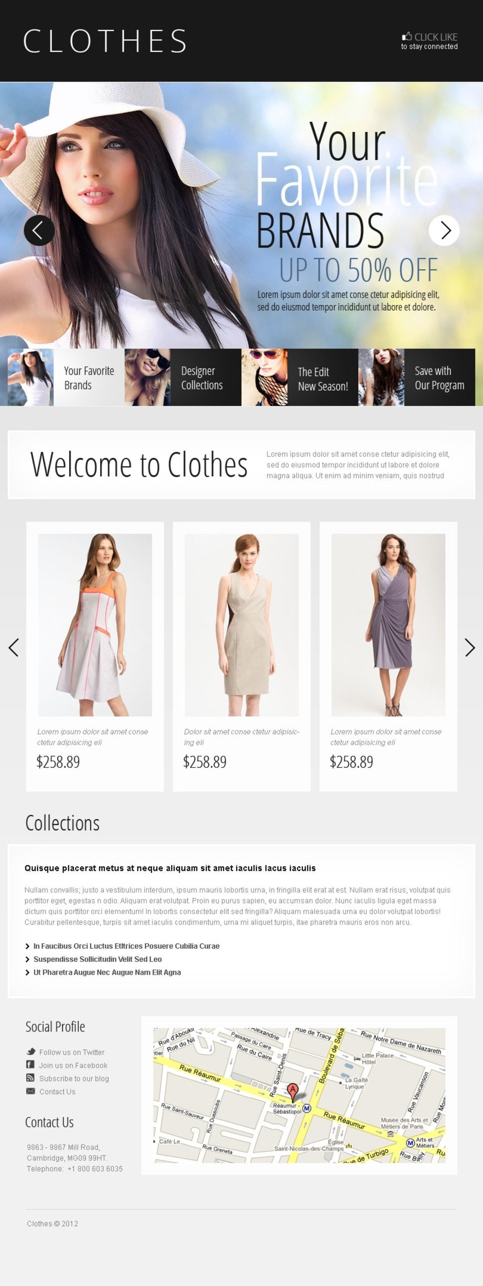 Apparel Facebook Template New Screenshots BIG