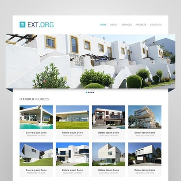Exterior design website template for Exterior design website templates
