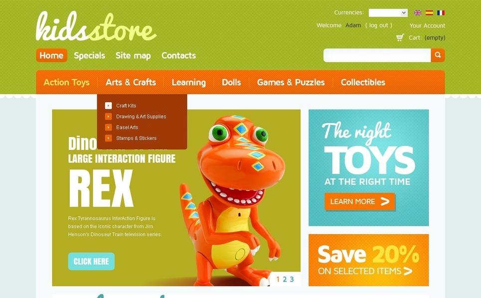 Kids Store OsCommerce Template New Screenshots BIG