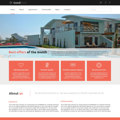 Apartments for Rent Joomla Template 49660 – House for Rent Template