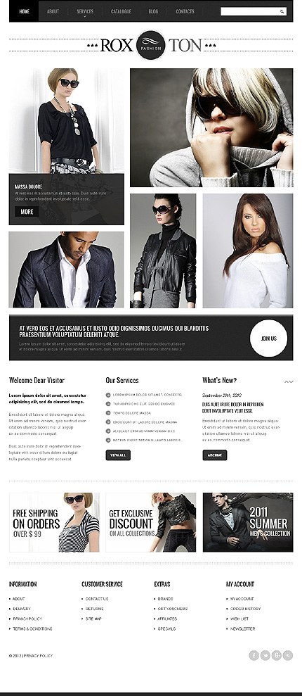 Roxton - Best Joomla Responsive Template For Beauty And Fashion