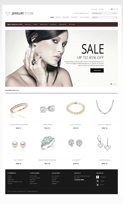 Jewelry stores - Splendid Jewellery Store PrestaShop Theme