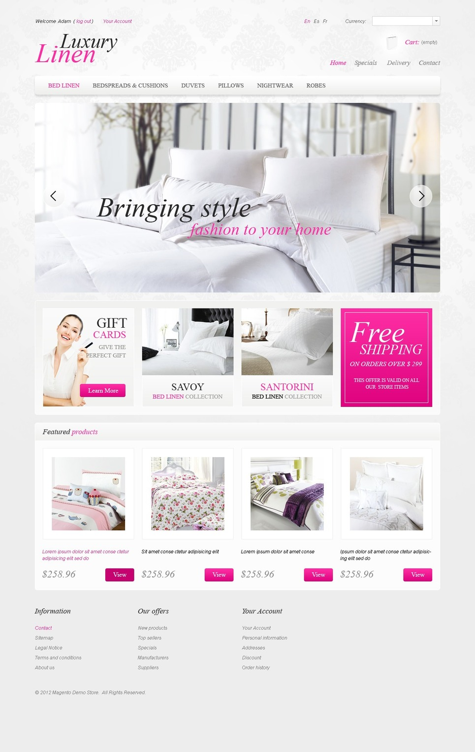 Absolute Linen PrestaShop Theme