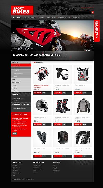 Sports bikes - Standard Online Vehicle Store Magento Theme