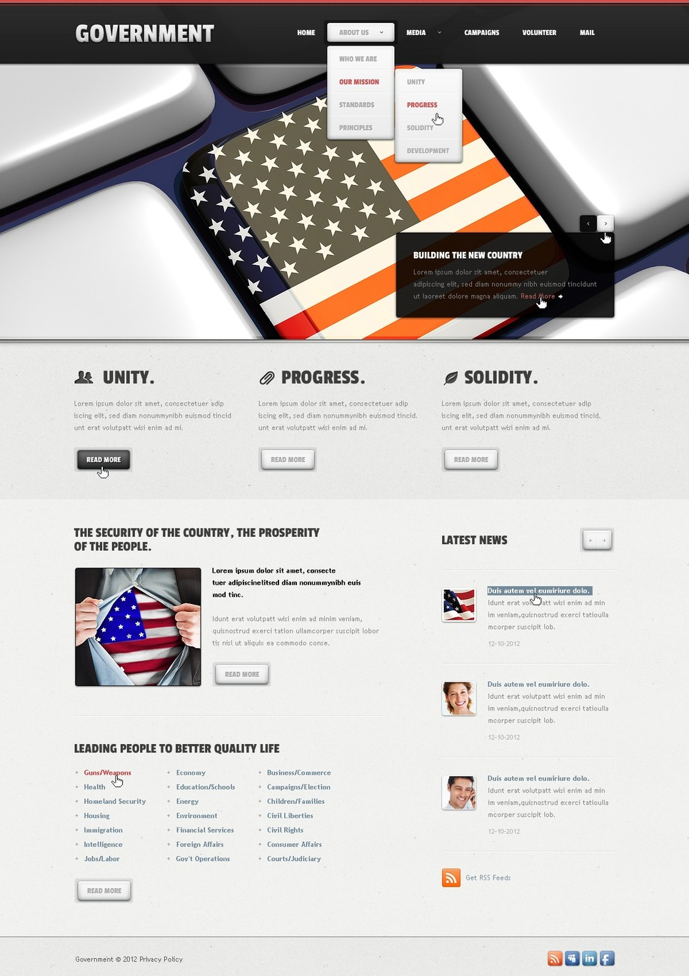 government website templates