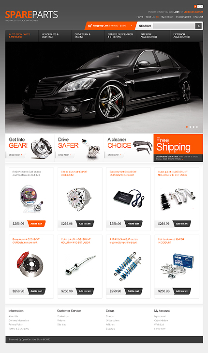 internet world 2012 auto spare parts website template download free now. Black Bedroom Furniture Sets. Home Design Ideas