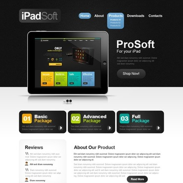 Software Company Website Template 40231