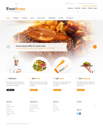 Food store - Befitting Magento Food Store Template