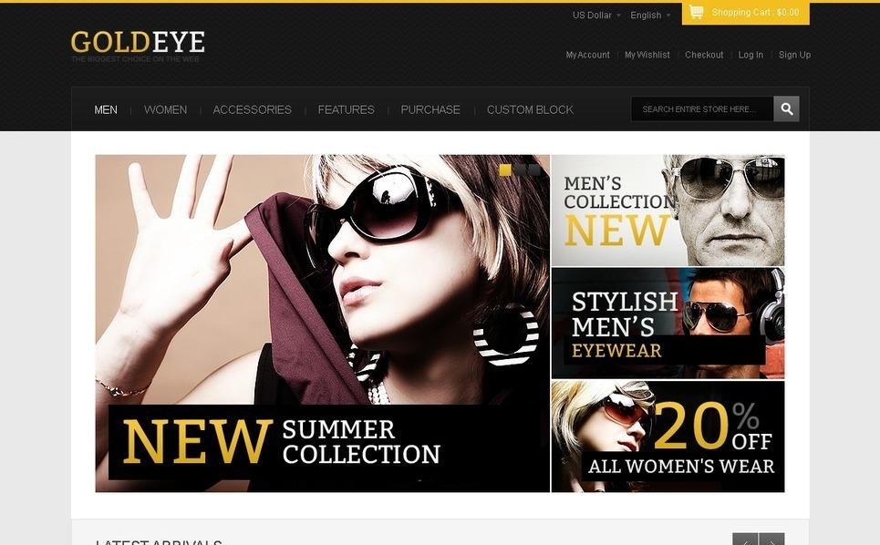 Top Sunglasses Magento Theme New Screenshots BIG