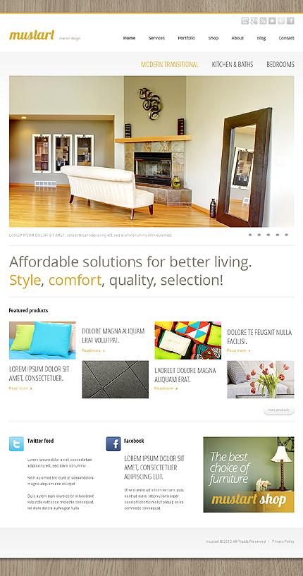Mustart - Interior Design Drupal Template