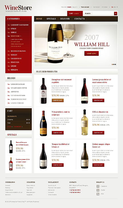 William hill wine stores - Wines For Gourmets PrestaShop Theme