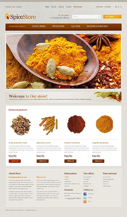 Spices store - Overseas Spice Store PrestaShop Theme