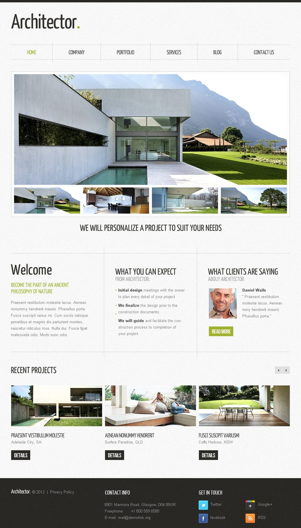Architecture and Real Estate Template and Image Gallery - image