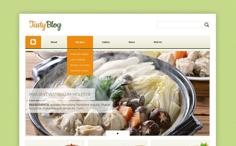 Cooking WordPress Theme New Screenshots BIG