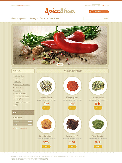 Spices store - Exotic Spice Store PrestaShop Theme