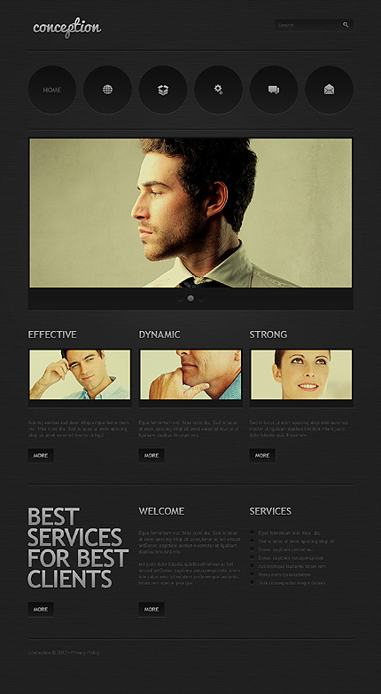 View Live Demo for Conception – Best Corporate WordPress Responsive Theme