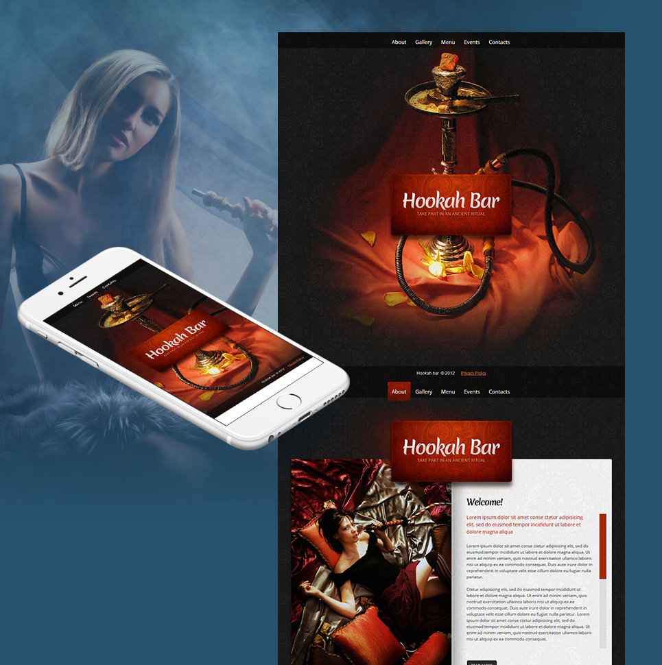Hookah Bar Website Template with a Photo Gallery - image