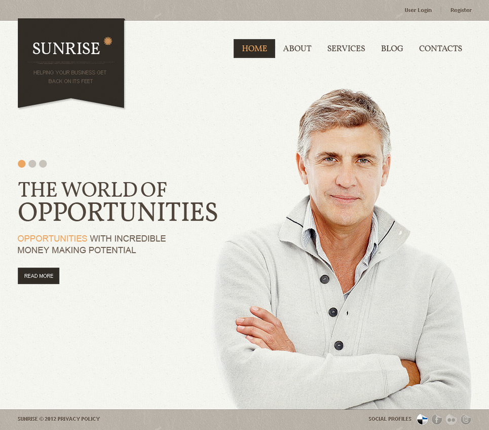 Business Website Template with a Well-Thought-Out Layout - image