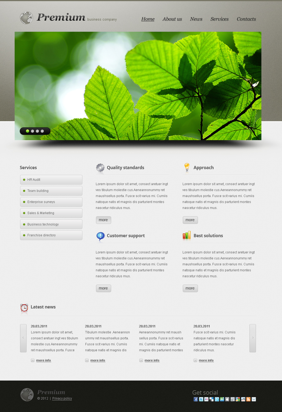 Fresh and Professional Business Company Website Template - image