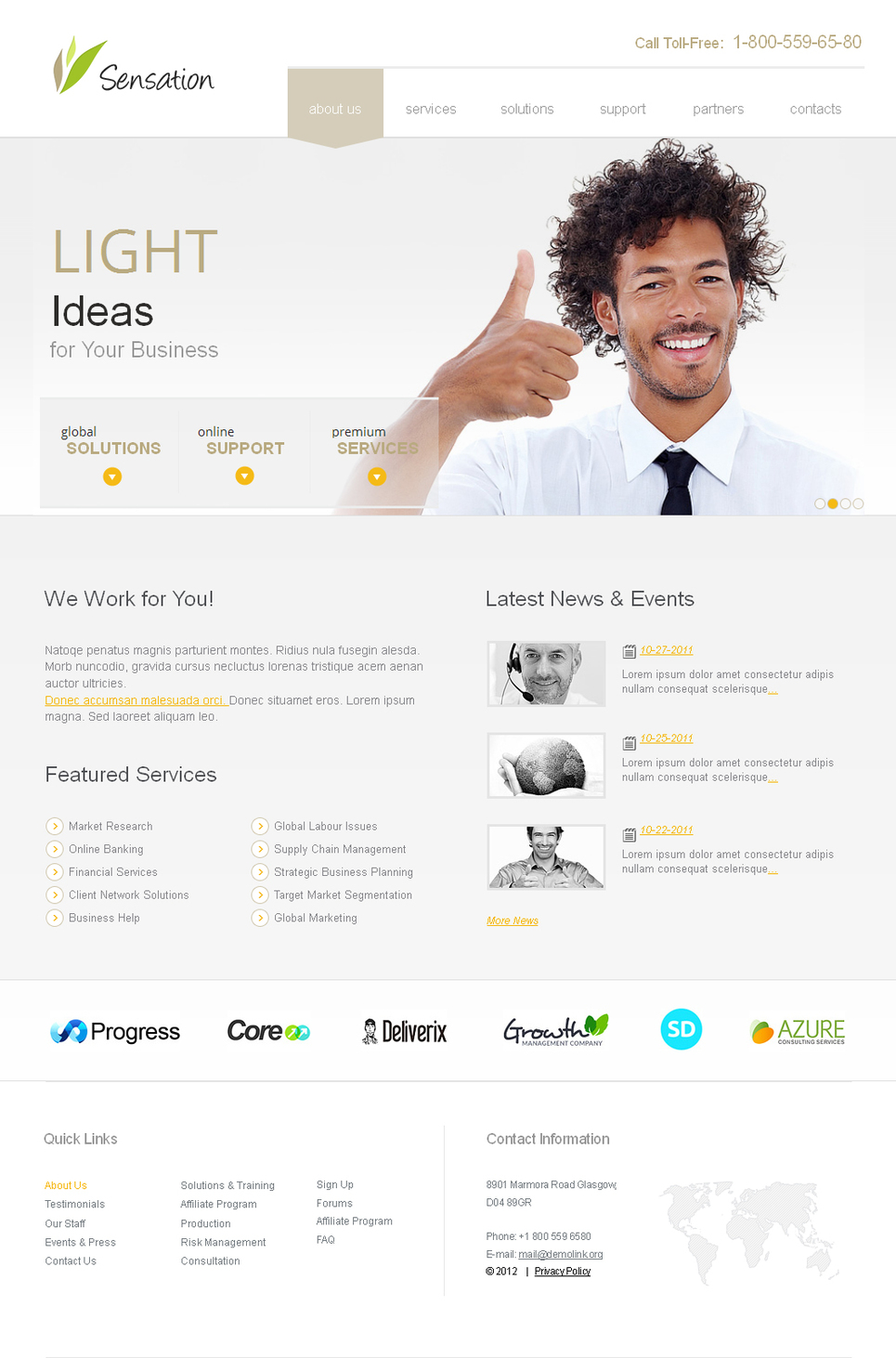 White Website Template To Run an Online Business - image