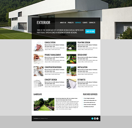 Exterior design website template 40502 for Exterior design website templates