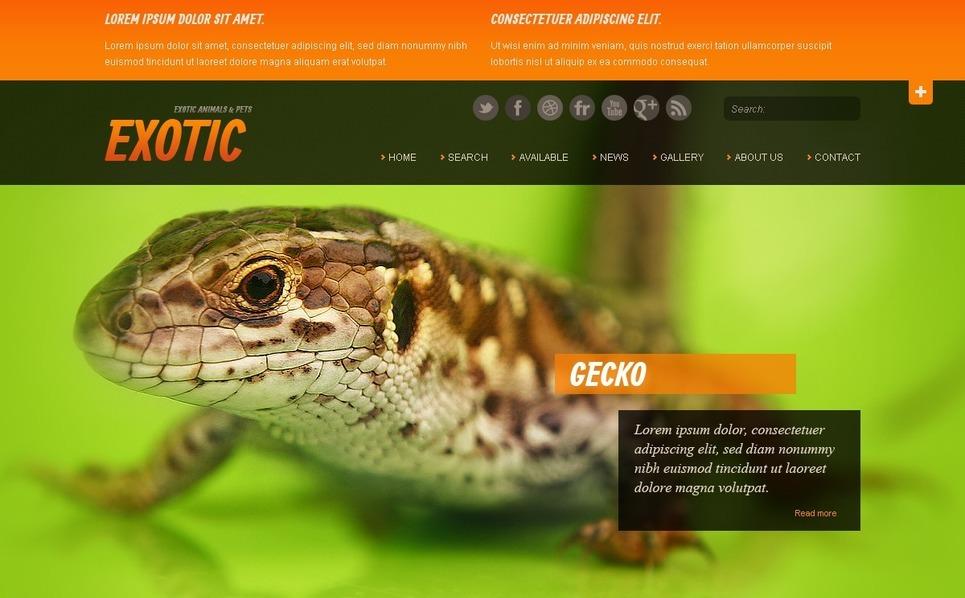 Exotic Pets Website Template New Screenshots BIG