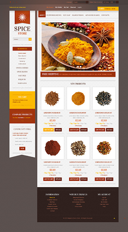 Spice stores - Spicy Spices Shop Magento Theme