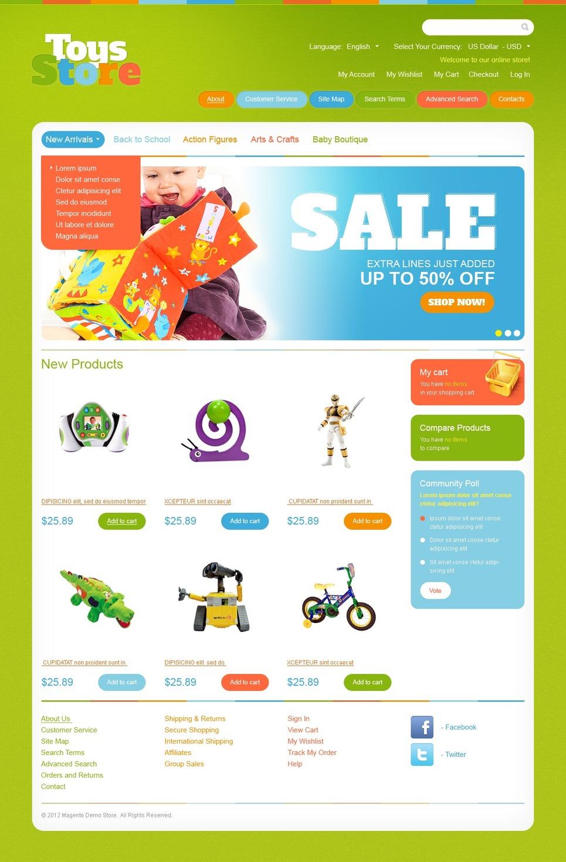 Marvellous Toys Store Magento Theme – Green