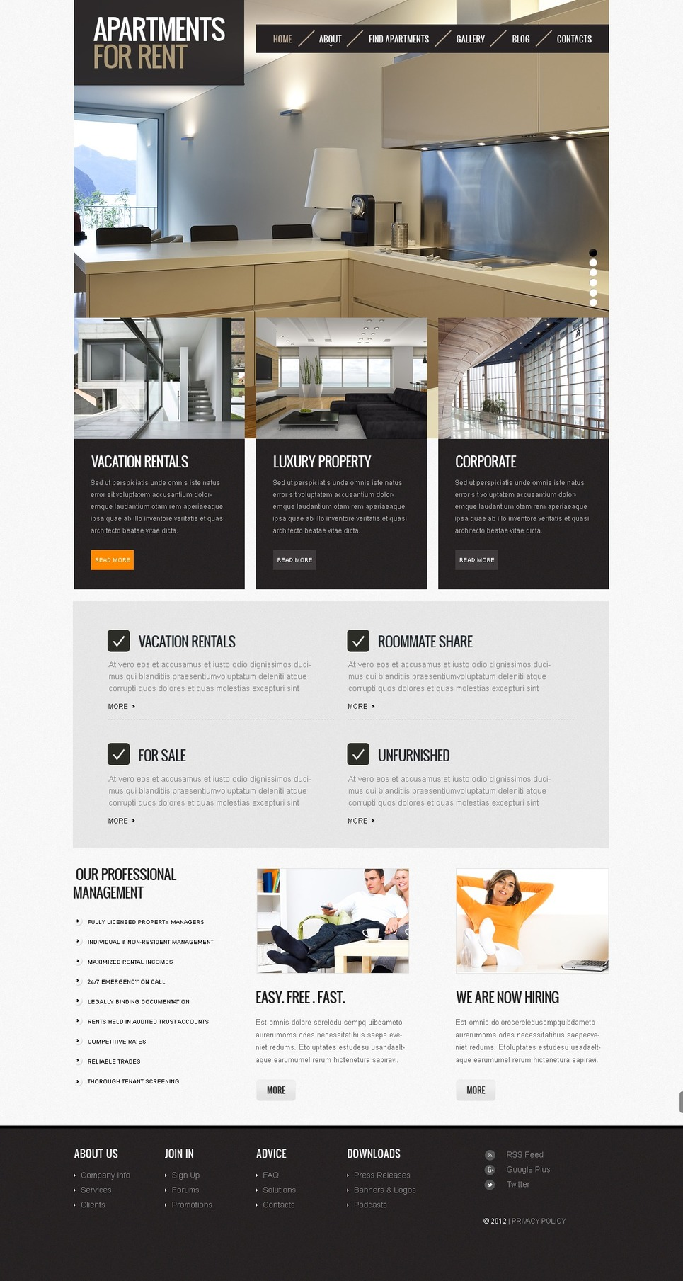 template for joomla 168 with real estate joomla template 40539